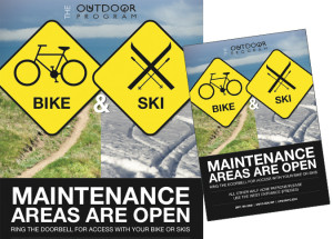 UW Outdoor Program signs