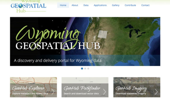 Wyoming Geospatial Hub website