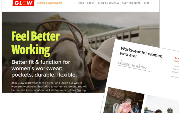 Glow Workwear website