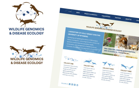 Wildlife Genomics logo & website