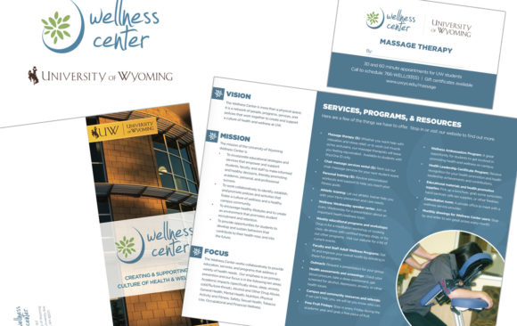 UW Wellness Center logo & printed materials