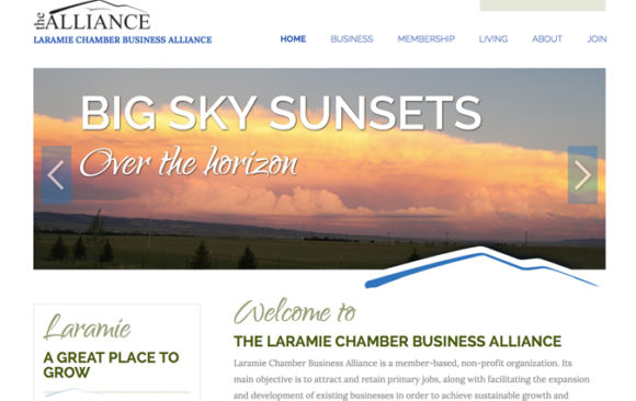 Laramie Chamber Business Alliance website