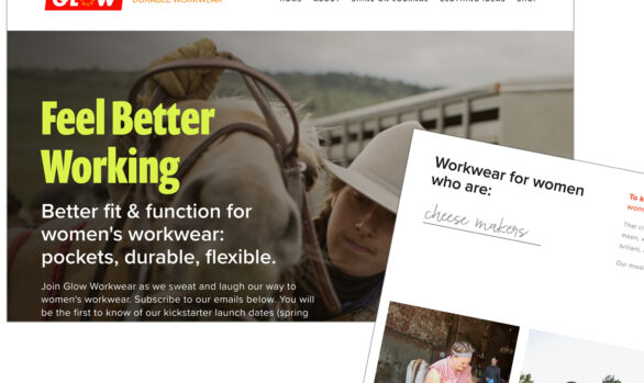 Glow Workwear website