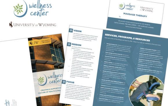 UW Wellness Center logo & printed materials