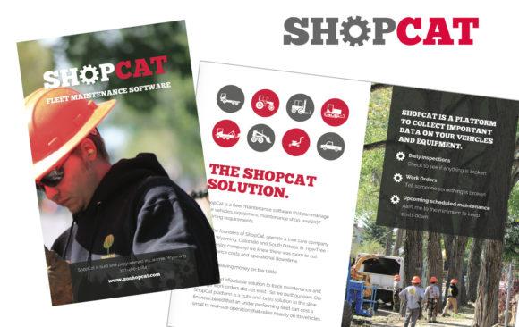 Shopcat logo & brochure