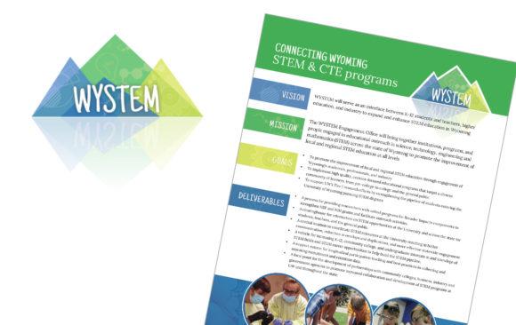 WYSTEM logo & flyers