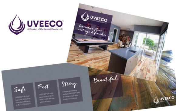 UVEECO branding and brochure