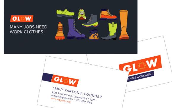 Glow Workwear print materials