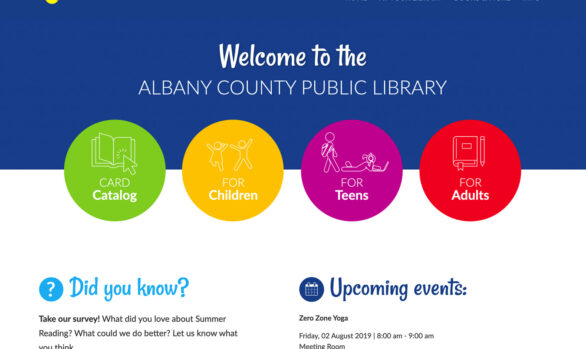 Albany County Public Library website