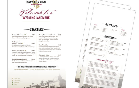 Cavalryman menu