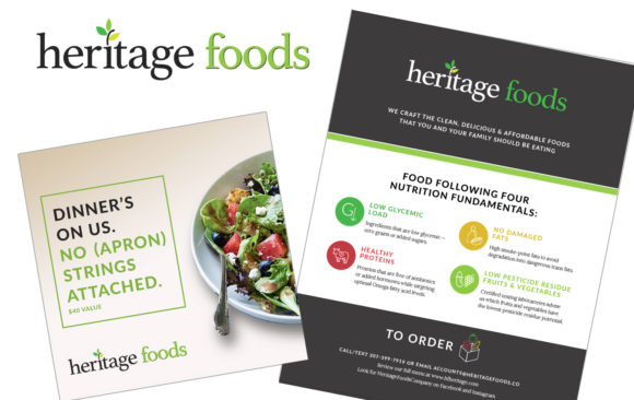 Heritage Foods logo and branding