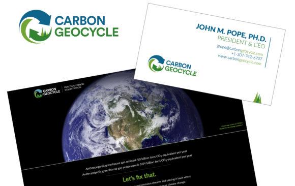 Carbon Geocycle logo, branding, and website