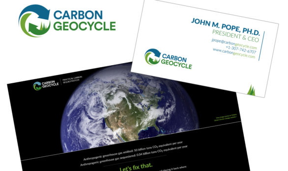 Carbon Geocycle logo, branding, and website