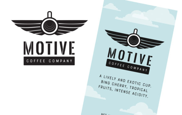 Motive Coffee Company logo and label