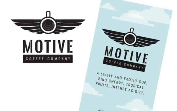 Motive Coffee Company logo and label