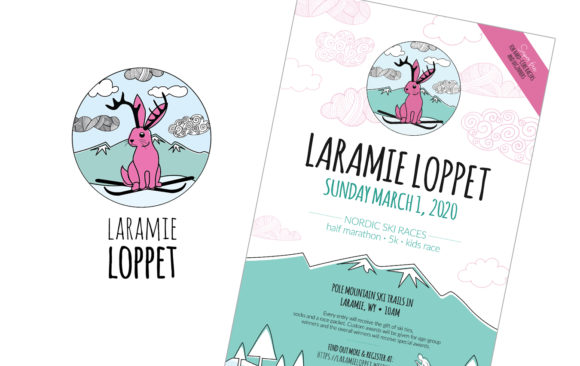 Laramie Loppet logo and poster