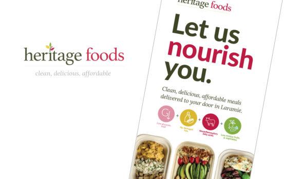 Heritage foods logo and branding