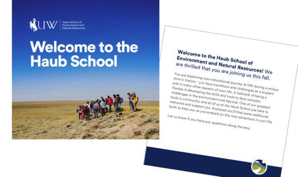 Haub School postcard